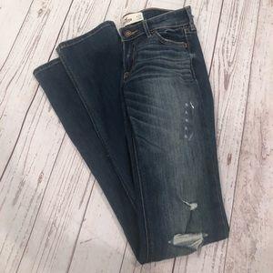 Hollister skinny distressed jeans waist 24 long